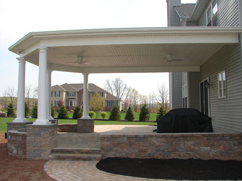 Title #8. Patio Roof Overhang With Columns